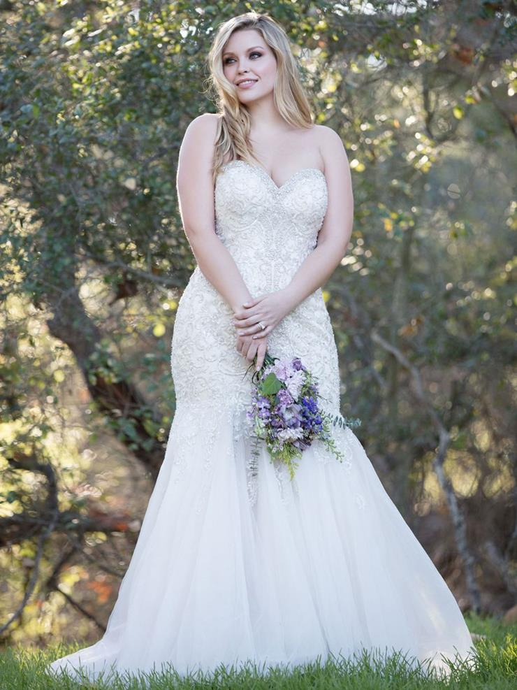 Allure Women Style #w375 Strapless Sweetheart Mermaid Wedding Dress with Beaded Bodice Image